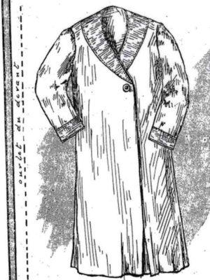BLEUETTE – Robe de chambre – Patron de poupée