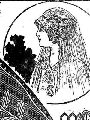 BLEUETTE – Voile de mariée en tulle brodé
