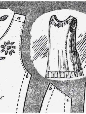 BLEUETTE – Robe de dessous – Patron de poupée (322)