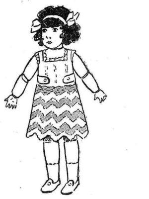 BLEUETTE – Jupon au crochet de laine
