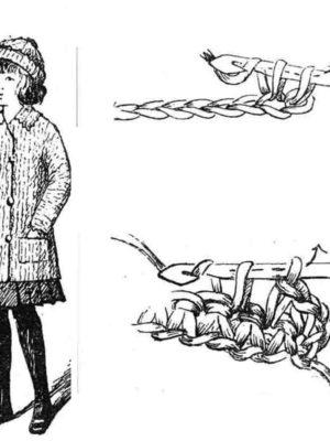 BLEUETTE – Paletot (manteau) au crochet - Patron pour habiller la poupée