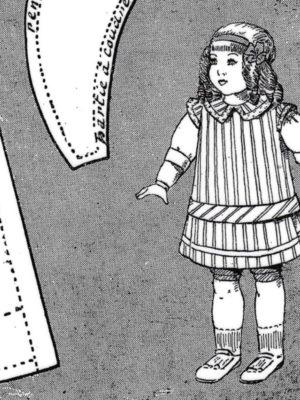 BLEUETTE – Tablier 1916 – Patron de poupée (397)