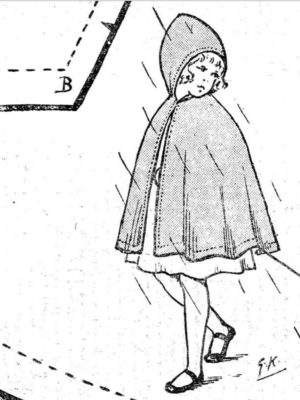 BLEUETTE – Manteau de pluie – Patron de poupée