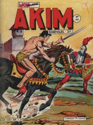 AKIM (1e série) N°494 L'épée invincible – MON JOURNAL 1980