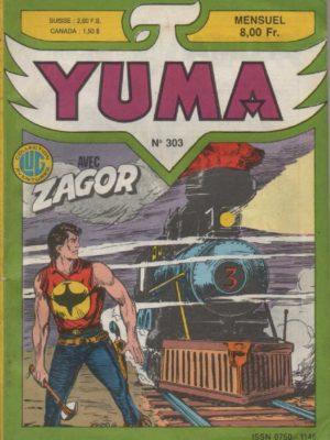 YUMA (1e Série) N°303 ZAGOR – Les catacombes – LUG 1988