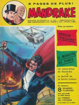 MANDRAKE N°379 Organisation Pieuvre – Remparts 1972