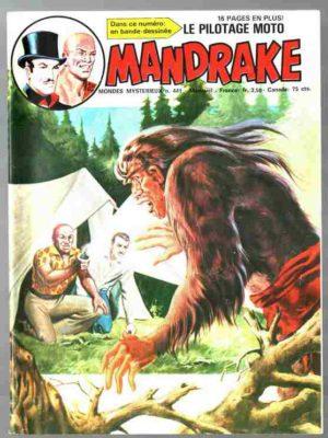 MANDRAKE N°441 Le mystérieux Grandpied – Remparts 1978
