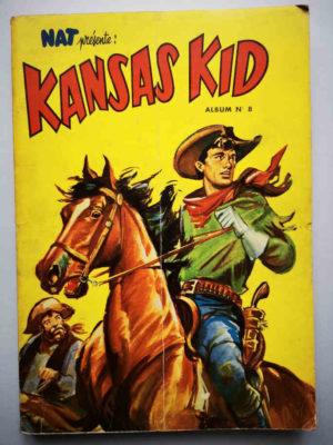 KANSAS KID (Nat Présente) ALBUM 8 (N°61-62-65-66-67-68-69-70) PEI 1955