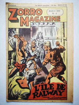 Zorro Magazine Nouvelle série N°6 Louis Bertrand (Roubinet) SNPI 1951