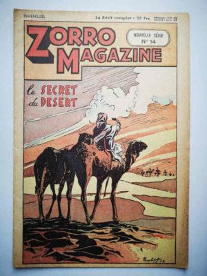 Zorro Magazine Nouvelle série N°14 Le secret du désert (Pierre Le Goff) SNPI 1952