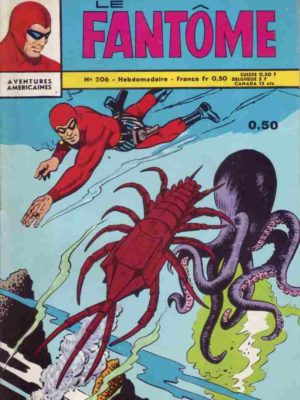 LE FANTOME N° 206 Guet-Apens au fond de l'eau – Remparts 1968