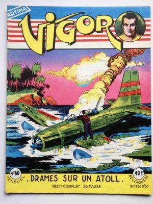 VIGOR N°60 Drame sur un Atoll (Artima 1958)