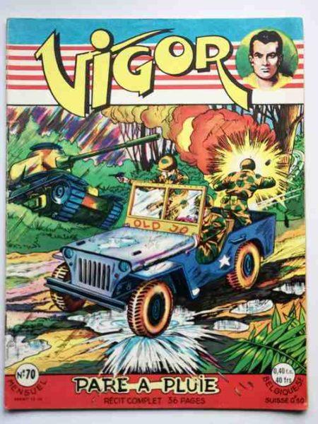 BD VIGOR N°70 Pare à pluie (BD de guerre, R. R. Giordan) Bob Corton - ARTIMA 1959