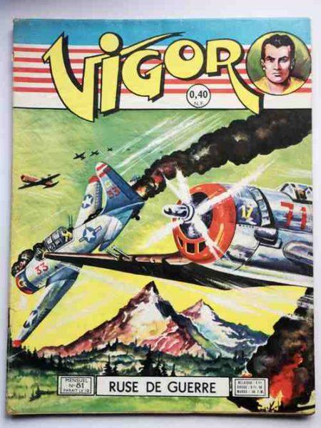 BD VIGOR N°81 Ruse de guerre (BD de guerre, R.R. Giordan) Artima 1960