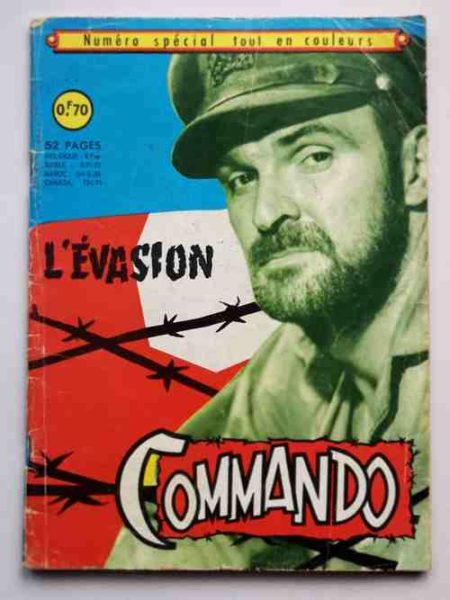 COMMANDO numéro spécial - L'évasion (BD de guerre) Aredit 1968