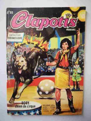 CLAPOTIS N°42 Rory, chien de cirque – AREDIT 1969