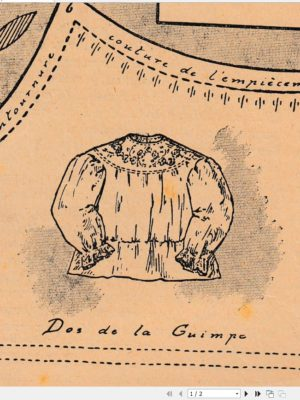 BLEUETTE – Chemise brodée 1911 (221)
