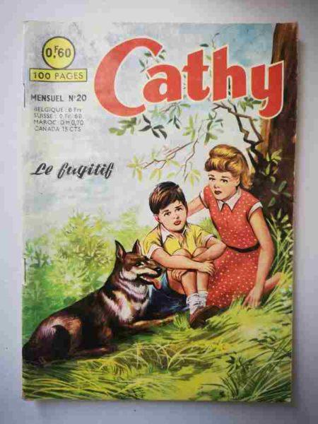 BD CATHY N°20 Le fugitif - ARTIMA 1964