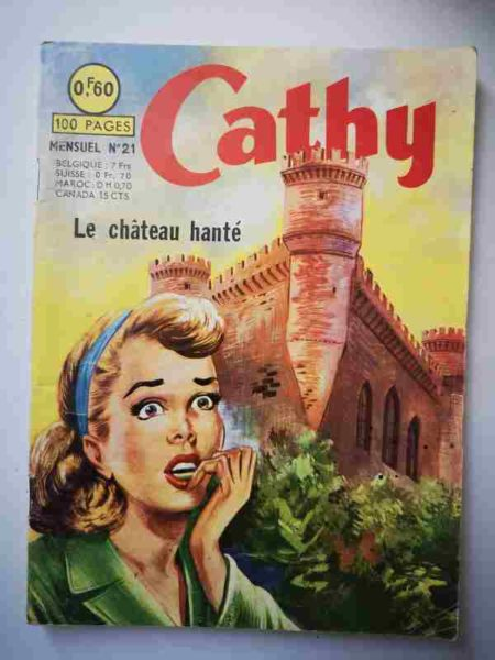 BD CATHY N°21 Le château hanté - ARTIMA 1964