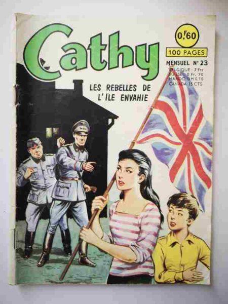 BD CATHY N°23 Les Rebelles de l'île envahie - ARTIMA 1964