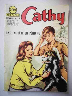 CATHY N°24 Une enquête en péniche – ARTIMA 1964