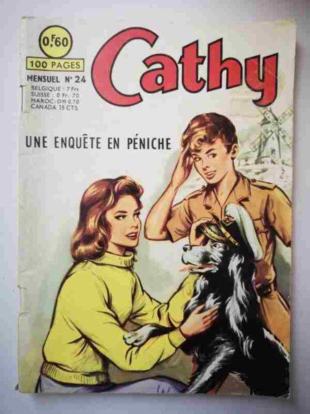 BD CATHY N°24 Une enquête en péniche - ARTIMA 1964