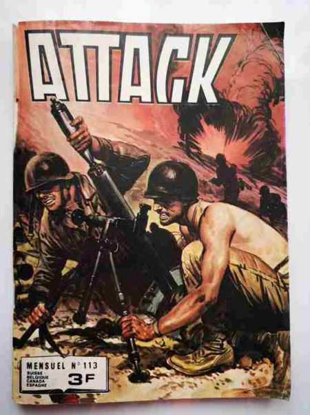 BD ATTACK (2E SERIE) N°113 - Une amitié perdue - IMPERIA 1980