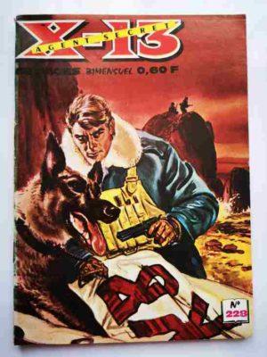 X13 AGENT SECRET N°228 – La montagne en alerte – IMPERIA 1970